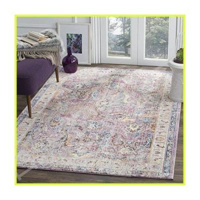 Safavieh Bristol Collection BTL357P Lavender and Light Grey Oriental Distressed Bohemian Area Rug (3' x 5') 並行輸入品