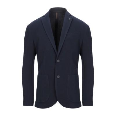 LABORATORI ITALIANI テーラードジャケット ダークブルー 46 コットン 97% / ポリウレタン 3% テーラードジャケット