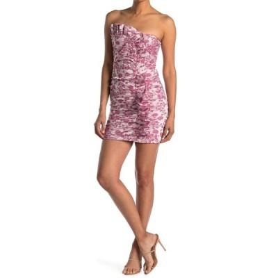 ライクリー レディース ワンピース トップス Lora Floral Ruched Ruffled Mini Dress PNK