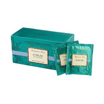 フォートナム&メイソン ジュビリー ブレンド (エリザベス女王即位60周年記念ブレンド) 25 ティーバッグ (25個入りx1箱) 個包装(Fortn