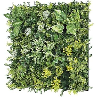 連結グリーン 壁取り付け 60角 人工観葉植物 フェイクグリーン GR1145