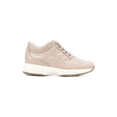 Hogan Luxury Fashion Woman HXW00N00E10I8ZM024 Beige Suede Sneakers | Spring Summer 20 並行輸入品