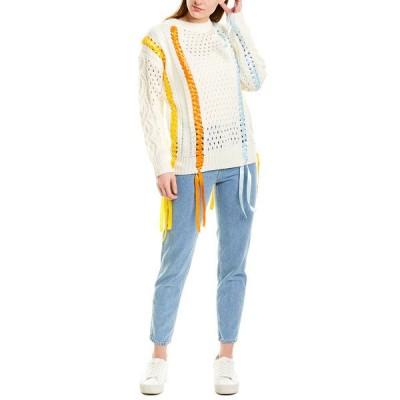 ビューラ ニット&セーター アウター レディース Beulah Lacing Sweater white