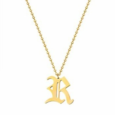 choice of all Old English R Initial Necklace for Women 14K Gold Plated Letter Pendant Necklace Stainless Steel Alphabet Necklace
