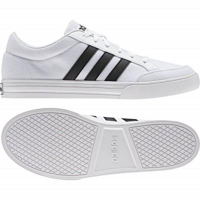 アディダス ADISET AW3889 メンズ レディース スニーカー:ホワイト×ブラック adidas 白スニーカー 白靴 通学スニーカー 白スクールシューズ 通学靴