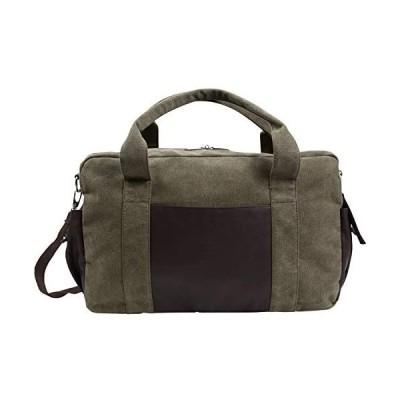 monolife ボストンバッグ 旅行バッグ キャリーオンバッグ メンズ 帆布 大容量 2way ショルダーベルト 付き 全5色 (カーキ 緑)