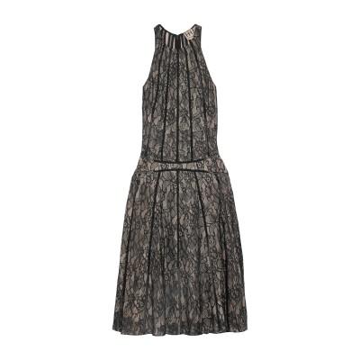 HAUTE HIPPIE 7分丈ワンピース・ドレス ブラック S ナイロン 100% / シルク 7分丈ワンピース・ドレス