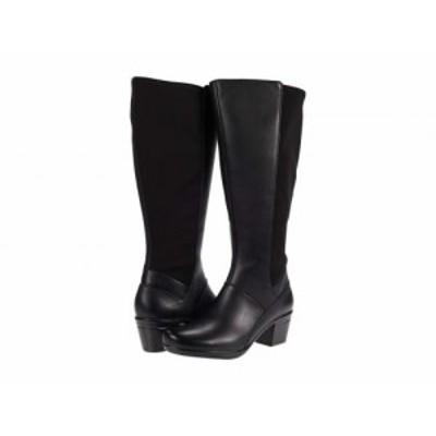 Clarks クラークス レディース 女性用 シューズ 靴 ブーツ ロングブーツ Emslie Emma Wide Calf Black【送料無料】