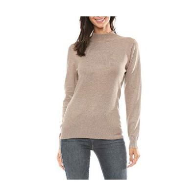 Womens Mock Neck Long Sleeve Sweater Knit Top (Camel, Small)並行輸入品 送料無料