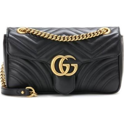 グッチ Gucci レディース ショルダーバッグ バッグ gg marmont leather shoulder bag Nero/Nero