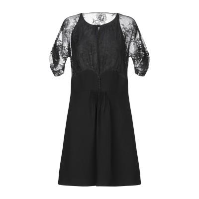 ミュウミュウ MIU MIU ミニワンピース&ドレス ブラック 44 コットン 70% / ナイロン 30% ミニワンピース&ドレス