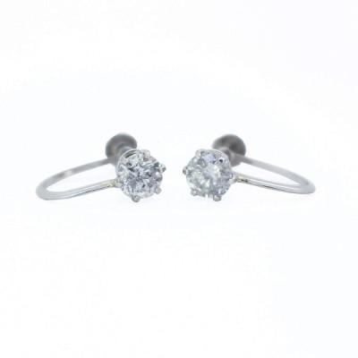 KASHIMAプラチナ900 大粒 0.7ct ダイヤモンド イヤリング