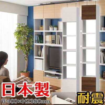 壁面キャビネット リビュアル [LVA-2440D NA] インテリア 本棚・ラック・壁面収納 本棚・書棚・ブックシェルフ