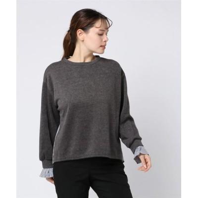 VIBGYOR / 切り替えプルオーバー(LC) WOMEN トップス > ニット/セーター