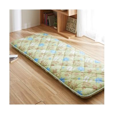 【日本製】布団屋さんが作ったごろ寝布団 リーフ柄 敷布団, Beddings, 寝具(ニッセン、nissen)