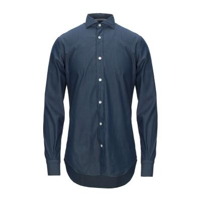 イレブンティ ELEVENTY シャツ ダークブルー 45 コットン 100% シャツ
