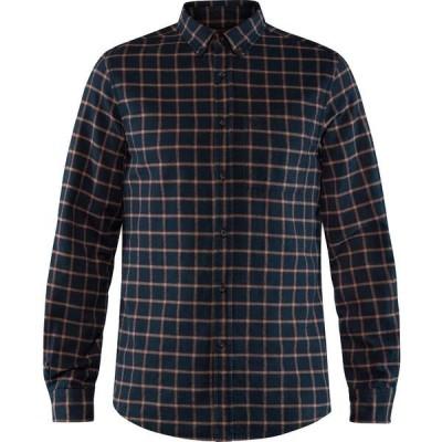 フェールラーベン シャツ メンズ トップス Ovik Flannel Shirt - Men's Dark Navy