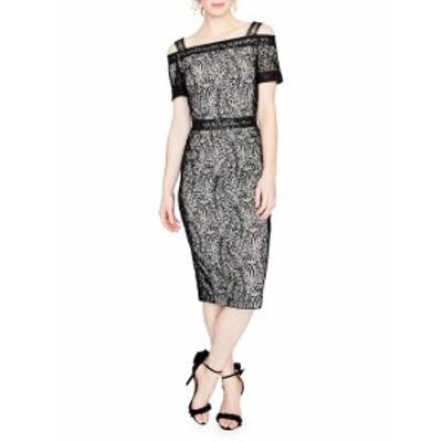 レイチェルレイチェルロイ レディース ワンピース Floral Lace Cold-Shoulder Midi Dress