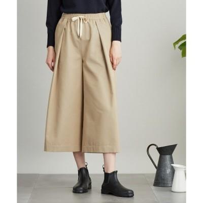 パンツ Organic Cotton Wool Gabardine ロングキュロット