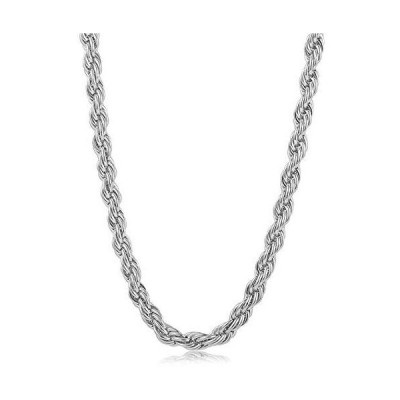 SONGCHANGJEWELRY Silver Chain Necklace - 4/6/8/10MM Stainless Steel Diamond