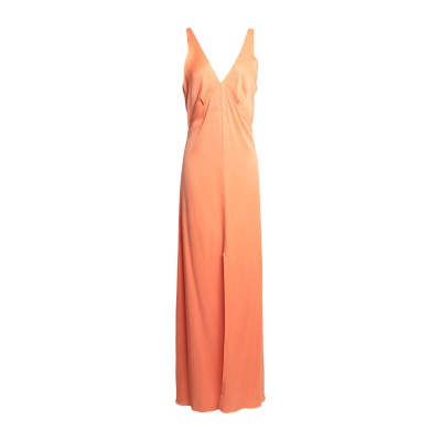 スーベニア SOUVENIR ロングワンピース&ドレス オレンジ S レーヨン 100% ロングワンピース&ドレス