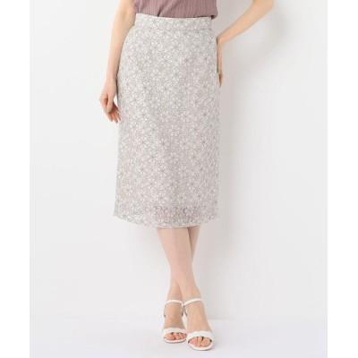 【ミッシュマッシュ】 繊細レースタイトスカート レディース ベージュ M MISCH MASCH