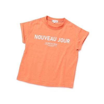 ROPE' PICNIC / 【KIDS】折り返しフレンチスリーブメッセージTシャツ KIDS トップス > Tシャツ/カットソー