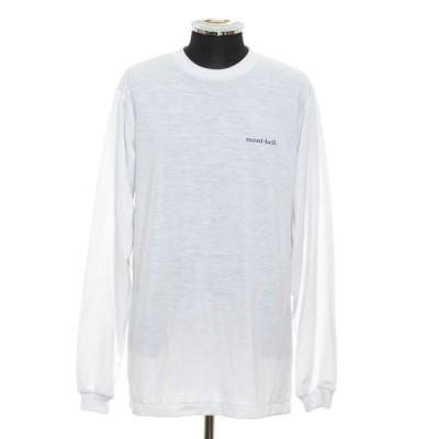 mont-bell モンベル ロングスリーブTシャツ サイズXL ポリエステル 日本製 ワンポイント メンズ ホワイト