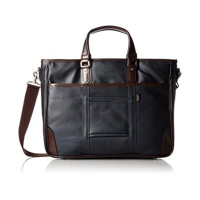[エバウィン] 【日本製】ビジネスバッグ A4サイズ収納可 牛革 EW21582 ネイビー