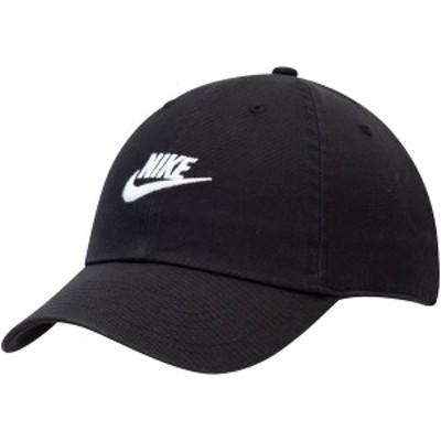 ナイキ メンズ 帽子 アクセサリー Nike Heritage 86 Futura 2.0 Team Adjustable Hat Black
