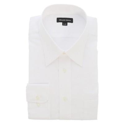 【グランバック】 グランバック/GRAND-BACK 形態安定レギュラーカラー長袖ビジネスドレスシャツワイシャツ メンズ ホワイト 2L:44-87 GRAND-BACK