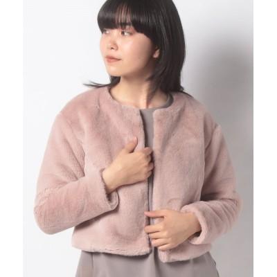 (MISS J/ミス ジェイ)エコファー ショートジャケット/レディース ピンク
