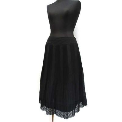 【中古】アリスバーリー Aylesbury シフォン タックプリーツ スカート 9 ブラック レディース 【ベクトル 古着】