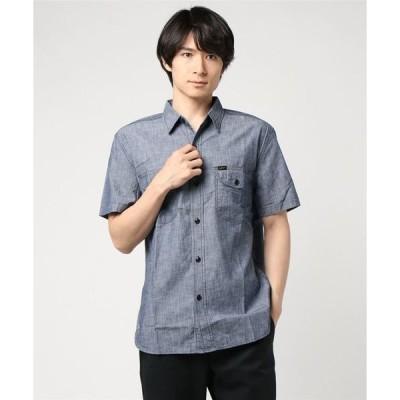 シャツ ブラウス シャンブレー ワークシャツ