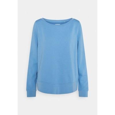 マルコポーロ パーカー・スウェットシャツ レディース アウター LONG SLEEVE ROUND NECK - Sweatshirt - washed cornflower