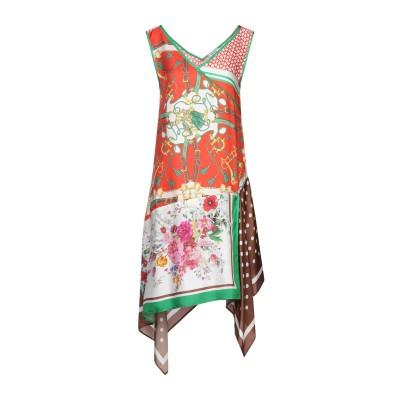 パロッシュ P.A.R.O.S.H. ミニワンピース&ドレス レッド S シルク 100% ミニワンピース&ドレス