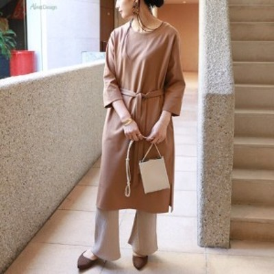 Y-2 ポンチ ベルト付き ロング ワンピース おしゃれ かわいい きれいめ 大人 || ファッション アパレル ドレス
