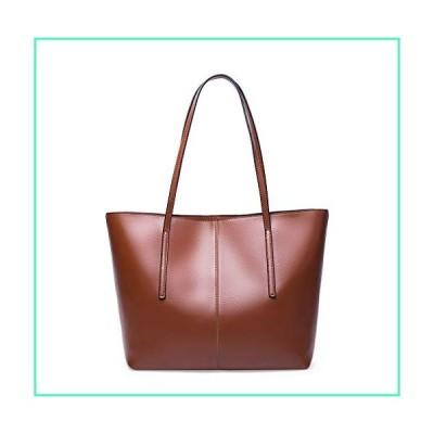 Covelin Women's Handbag Genuine Leather Tote Shoulder Bags Soft Hot Brown並行輸入品