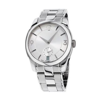 腕時計 モバード Movado LX Silver Dial Stainless Steel Men's Watch 0606627