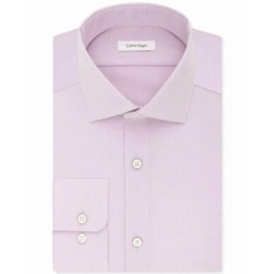 Calvin Klein カルバンクライン ファッション ドレス Calvin Klein NEW Pink Mens 16 1/2 Regular Fit Performance Dress Shirt