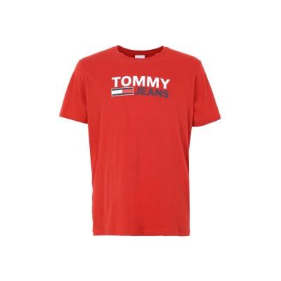 TOMMY JEANS T シャツ レッド XL オーガニックコットン 100% T シャツ