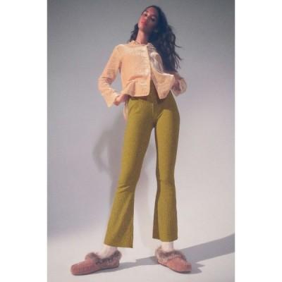 アーバンアウトフィッターズ Urban Outfitters レディース ボトムス・パンツ UO Rosie Space-Dye Ribbed Flare Pant Green