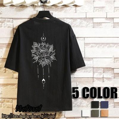 夏Tシャツ メンズ Tシャツ トップス 大きいサイズ Tシャツ ネイビー ブラック ホワイト カーキ グリーン 夏物 春物 Tシャツ メンズファッション