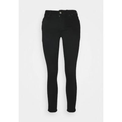 オンリー プティ レディース デニムパンツ ボトムス ONLBLUSH LIFE RAW - Jeans Skinny Fit - black denim black denim
