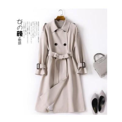 韓国風 ジャケット 上着 カジュアル アウター コート チェスターコート トレンチコート 上質 ロング丈コート オーバーサイズコート 着痩せ 通勤 旅行
