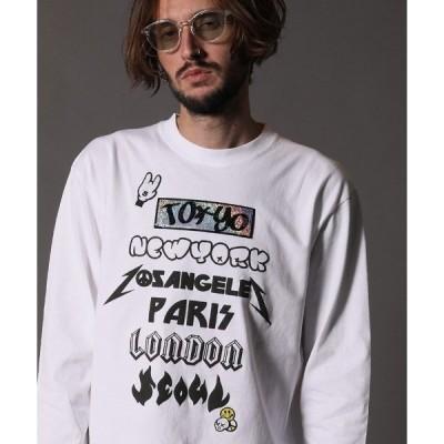 tシャツ Tシャツ mlt3192-5.6OZコットン天竺CITYフォームPTシークイン L-S  Tシャツ