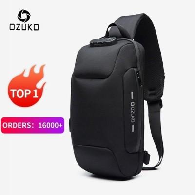 OZUKO 2019多機能クロスボディバッグ 男性 アンチ盗難防止 ショルダー メッセンジャーバッグ