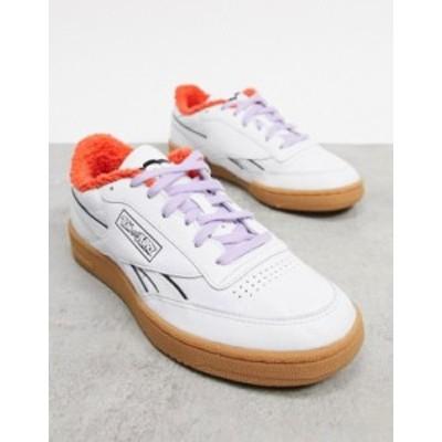 リーボック メンズ スニーカー シューズ Reebok Club C Revenge sneakers in white White