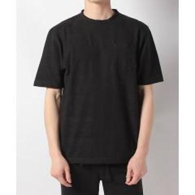 Alpine DESIGN(セール)Alpine DESIGN(アルパインデザイン)トレッキング アウトドア 半袖Tシャツ ジャガードTシャツ AD-S19-014-012 BLK メンズ ブラック