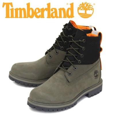 Timberland (ティンバーランド) A2DPU 6inch TREADLIGHT WP BT 6インチ プレミアム ウォータープルーフ ブーツ Dark Green Nubuck TB140